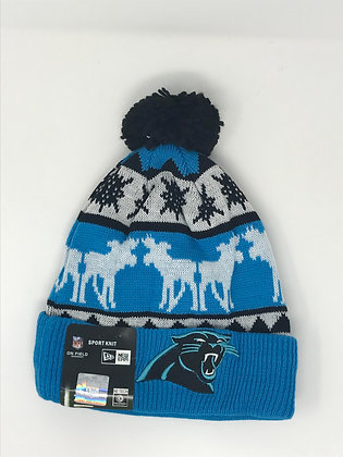Carolina Panthers Pom Knit Beanie