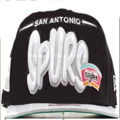 Kids Blk/ White Spurs adjustable snapback