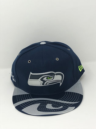 Sz 7 3/4 Seattle Seahawks Fitted Hat