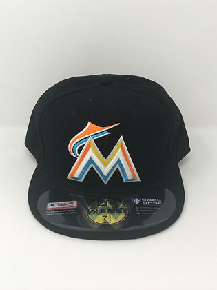 Sz 7 3/4 Miami Marlins Fitted Hat