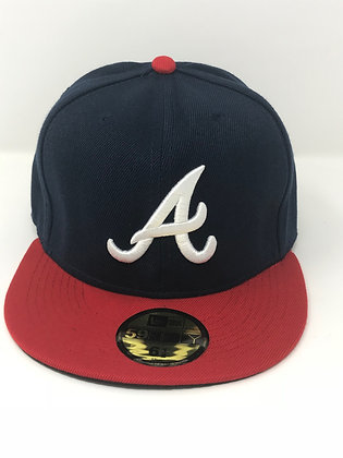 Sz 6 1/2 Atlanta Braves Youth Fitted Hat