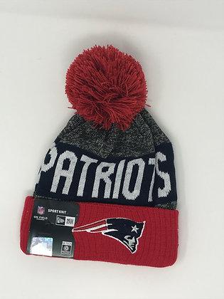 New England Patriots Pom Knit Beanie