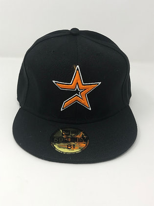 Sz 6 5/8 Houston Astros Youth Fitted Hat