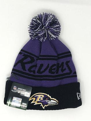Baltimore Ravens Pom Knit Beanie