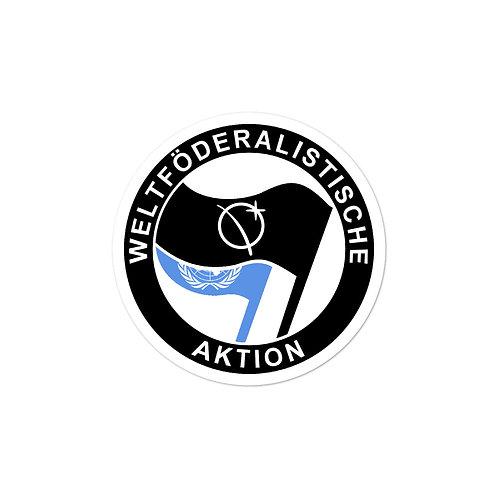 """""""Weltföderalistische Aktion"""" Sticker"""