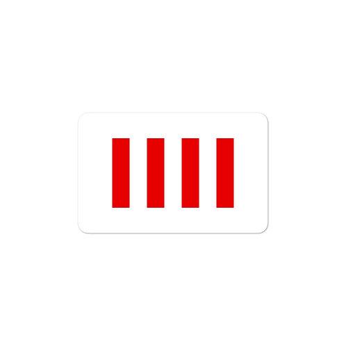 """""""Four Freedoms"""" Flag Sticker"""