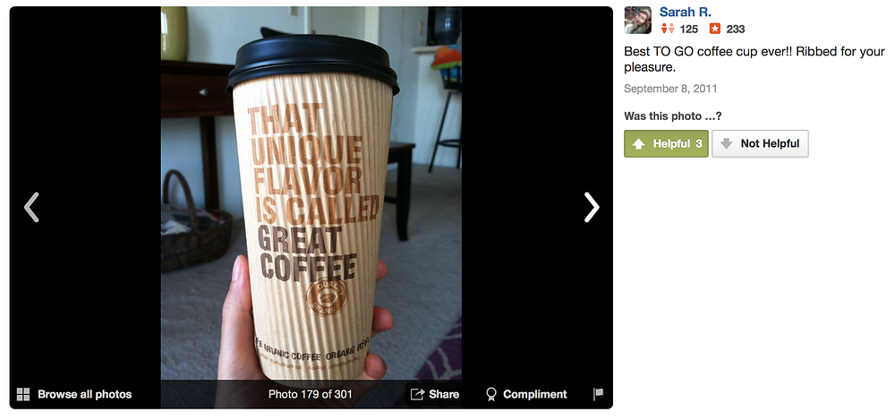 A yelp review of Viento Agua Coffeehouse & Gallery in Long Beach, CA