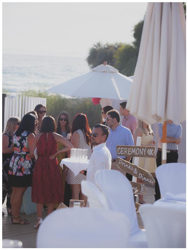 salduna beach wedding guests