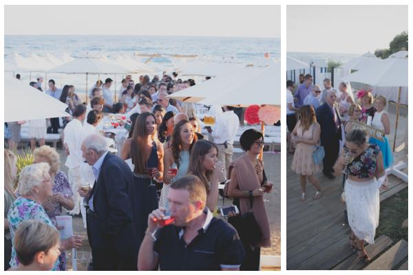wedding guests beach wedding