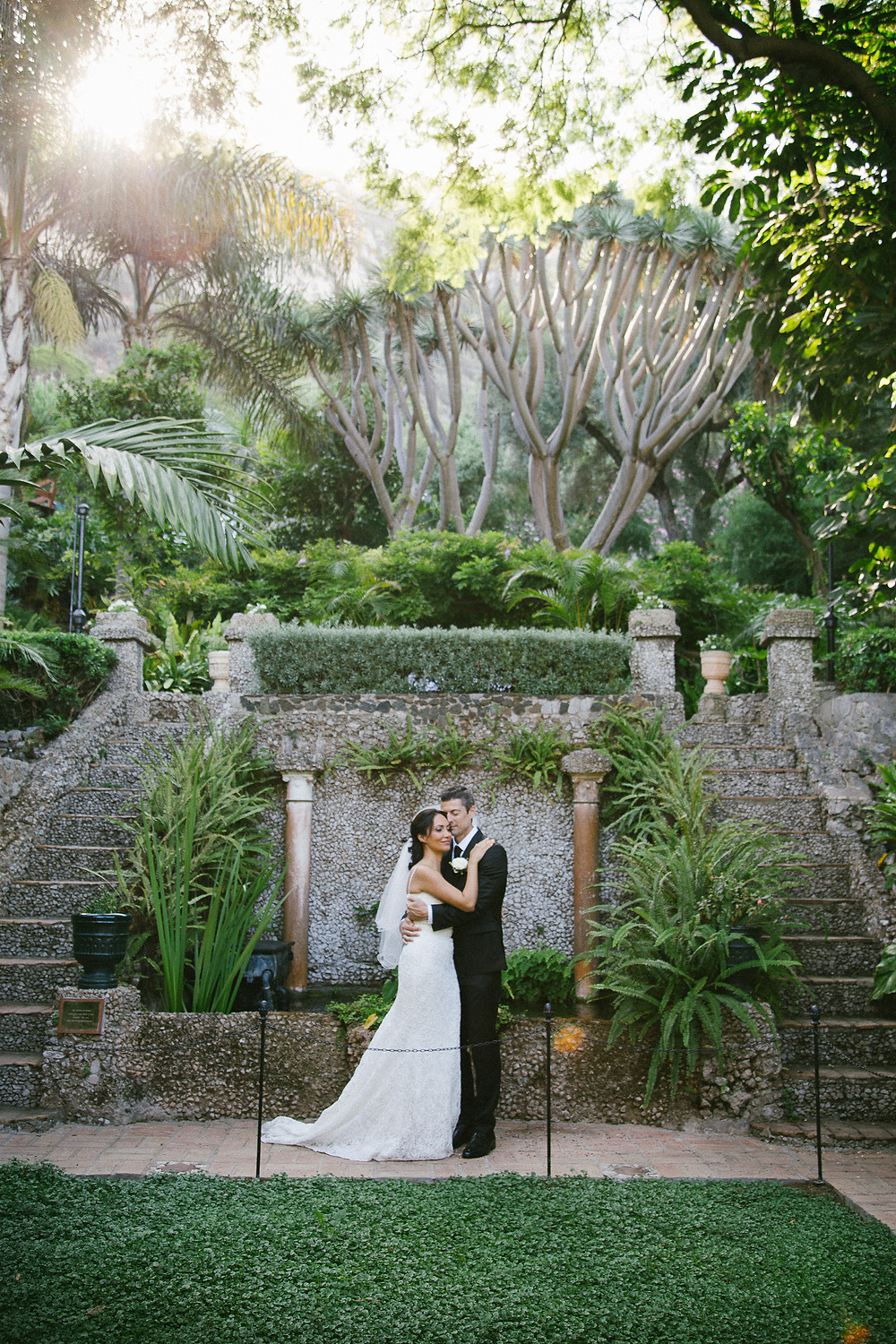 Elopement wedding at The Dell, a private garden within the Botanical gardens gibraltar