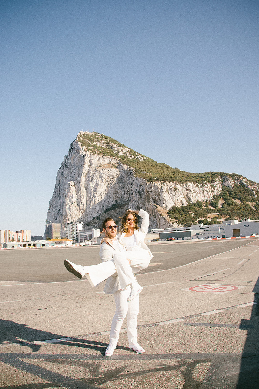 John and Yoko style wedding in Gibraltar. Gibraltar Registry office.