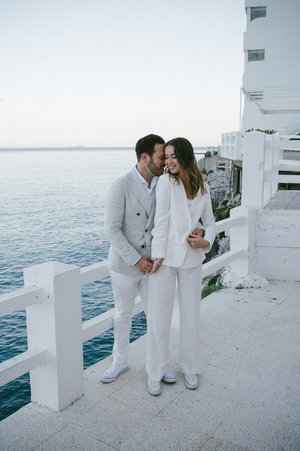 Caelta Hotel wedding photo of cool couple John ad Yoko style Gibraltar