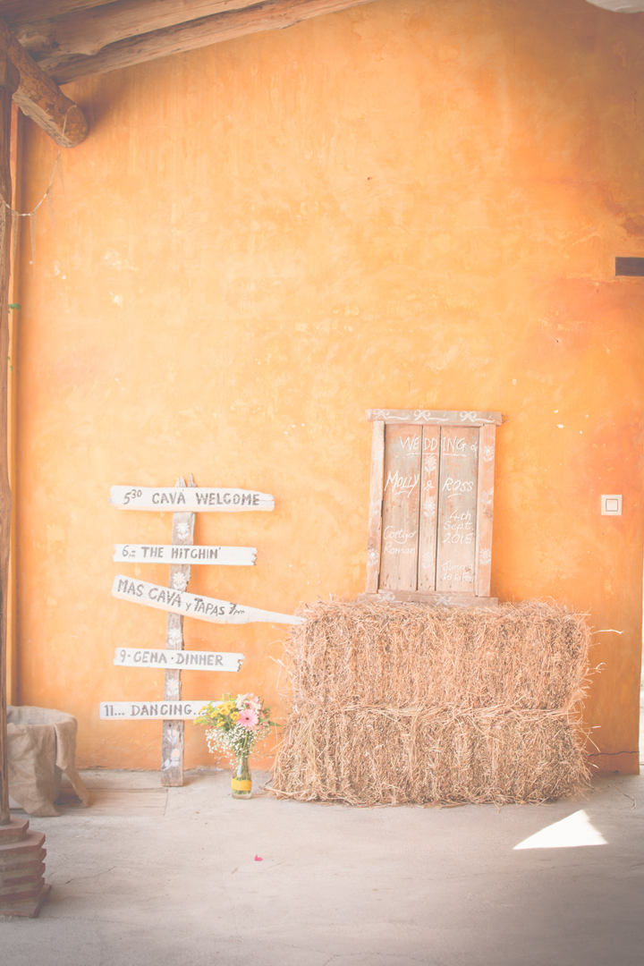 Vintage country wedding spanish