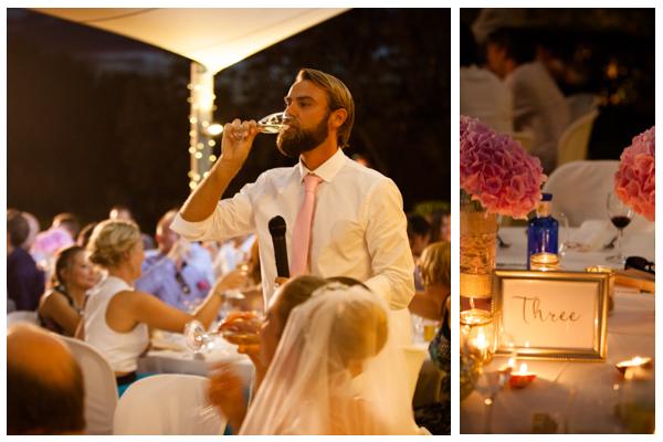 table decoration beach wedding
