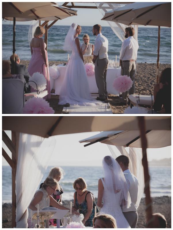 beach wedding marbella altar