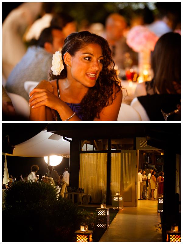 guests beach wedding