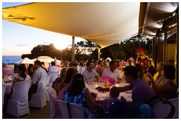 romantic sunset wedding marbella