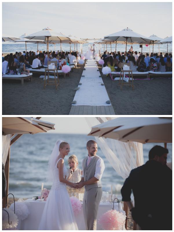 salduna beach wedding ceremony