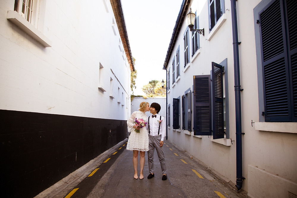 Cool couple getting married in Gibraltar