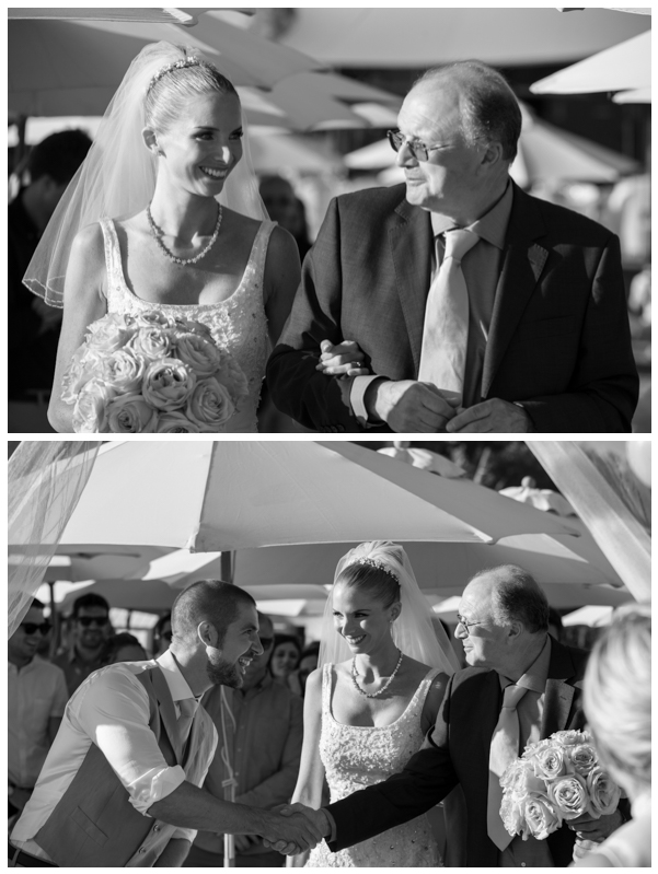 father of the bride black and white