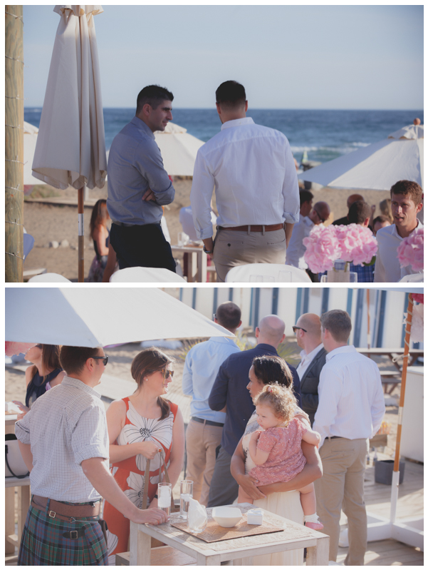 Saldana beach wedding guests