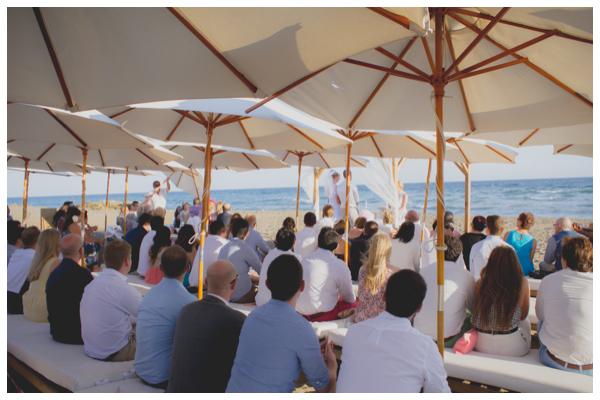 beach wedding ceremony summer