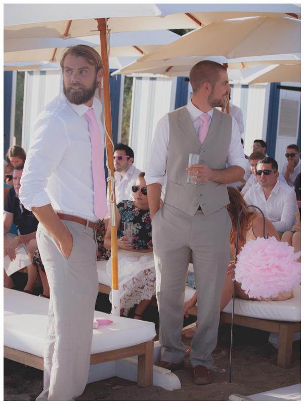 groom and best man beach wedding