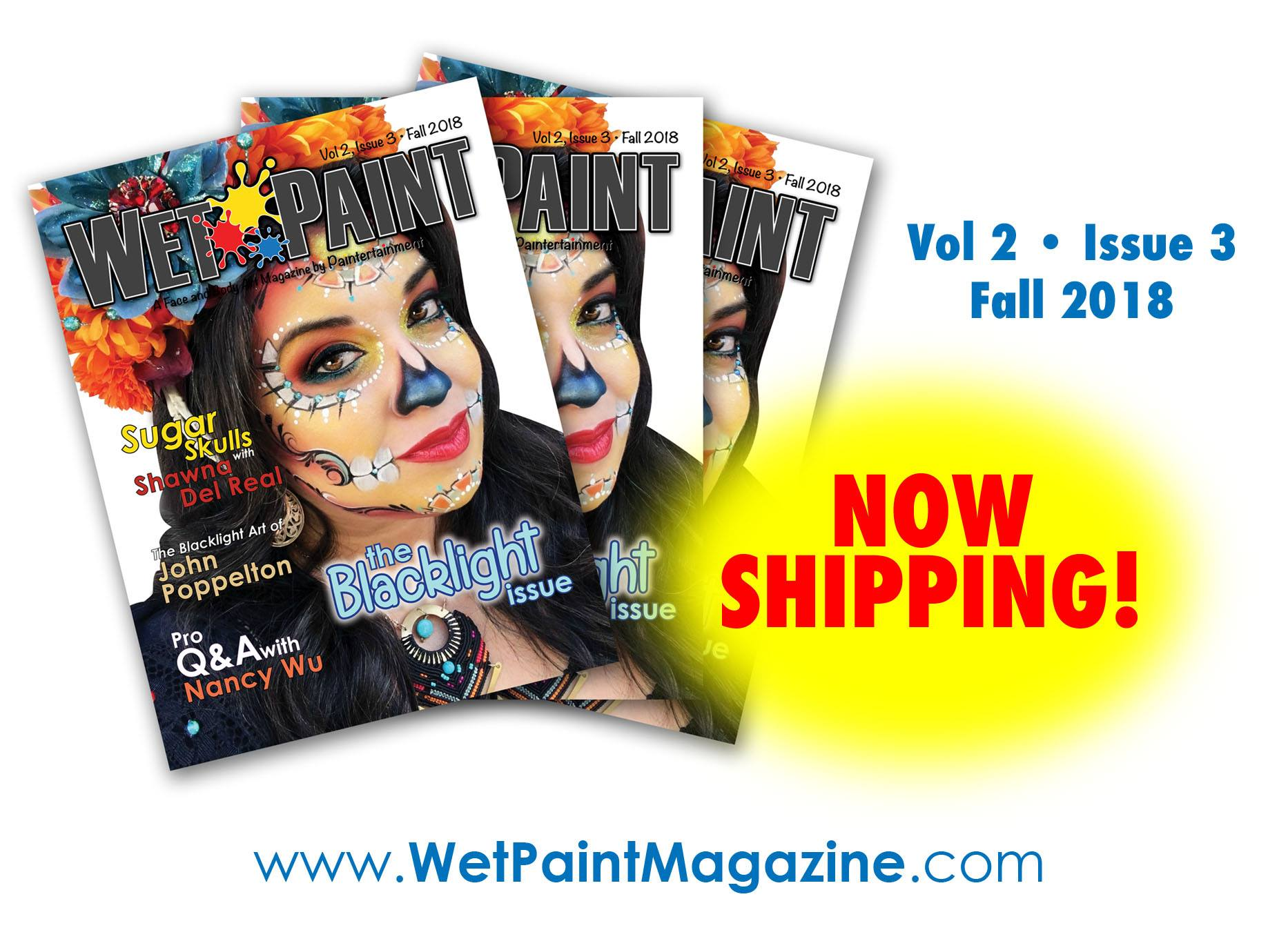 wet paint magazine cover with shawna del