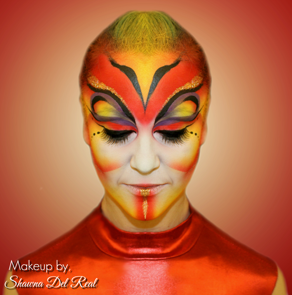 Red Cirque Makeup