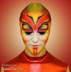 Red Cirque Makeup