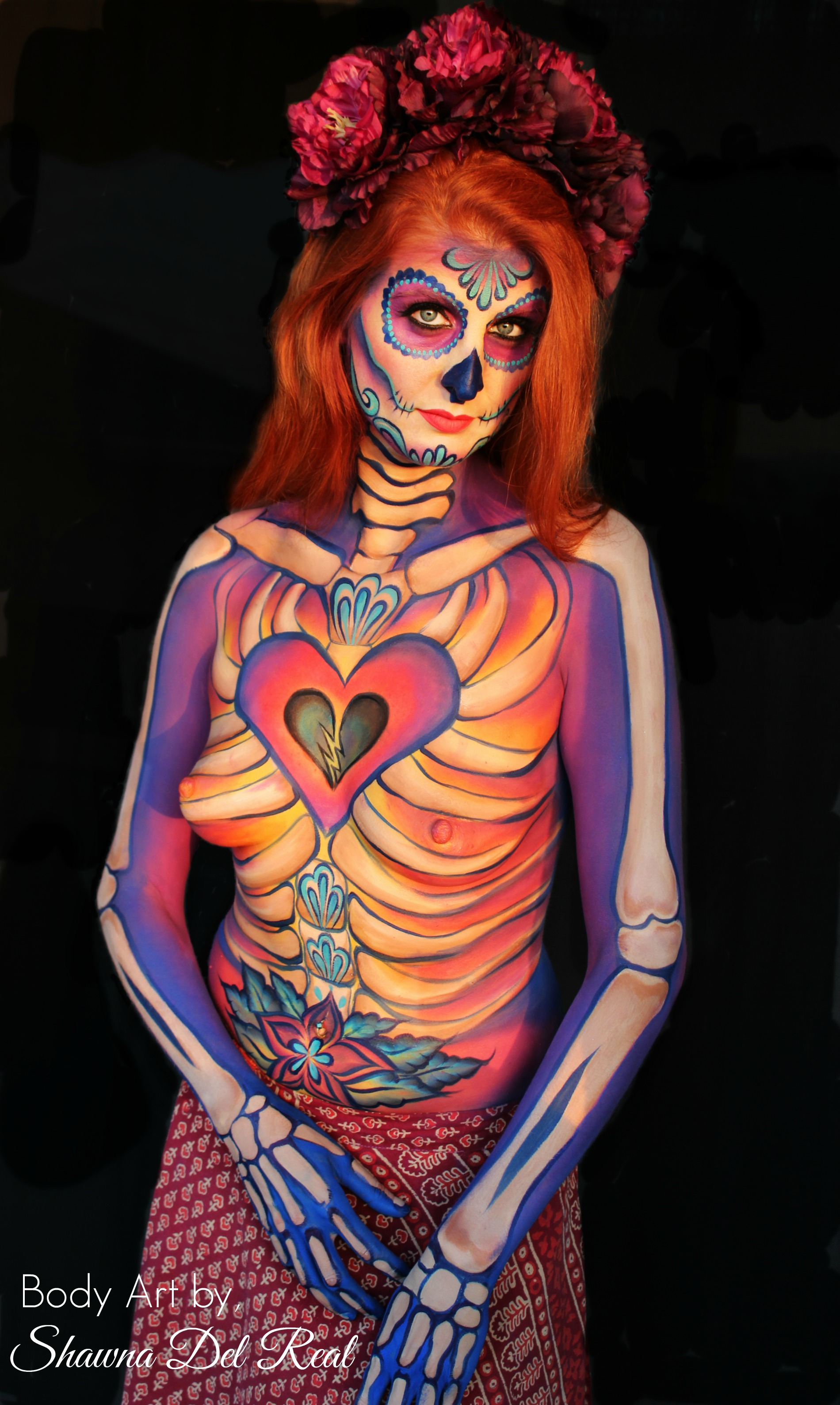 Sugar Skull Body Paint