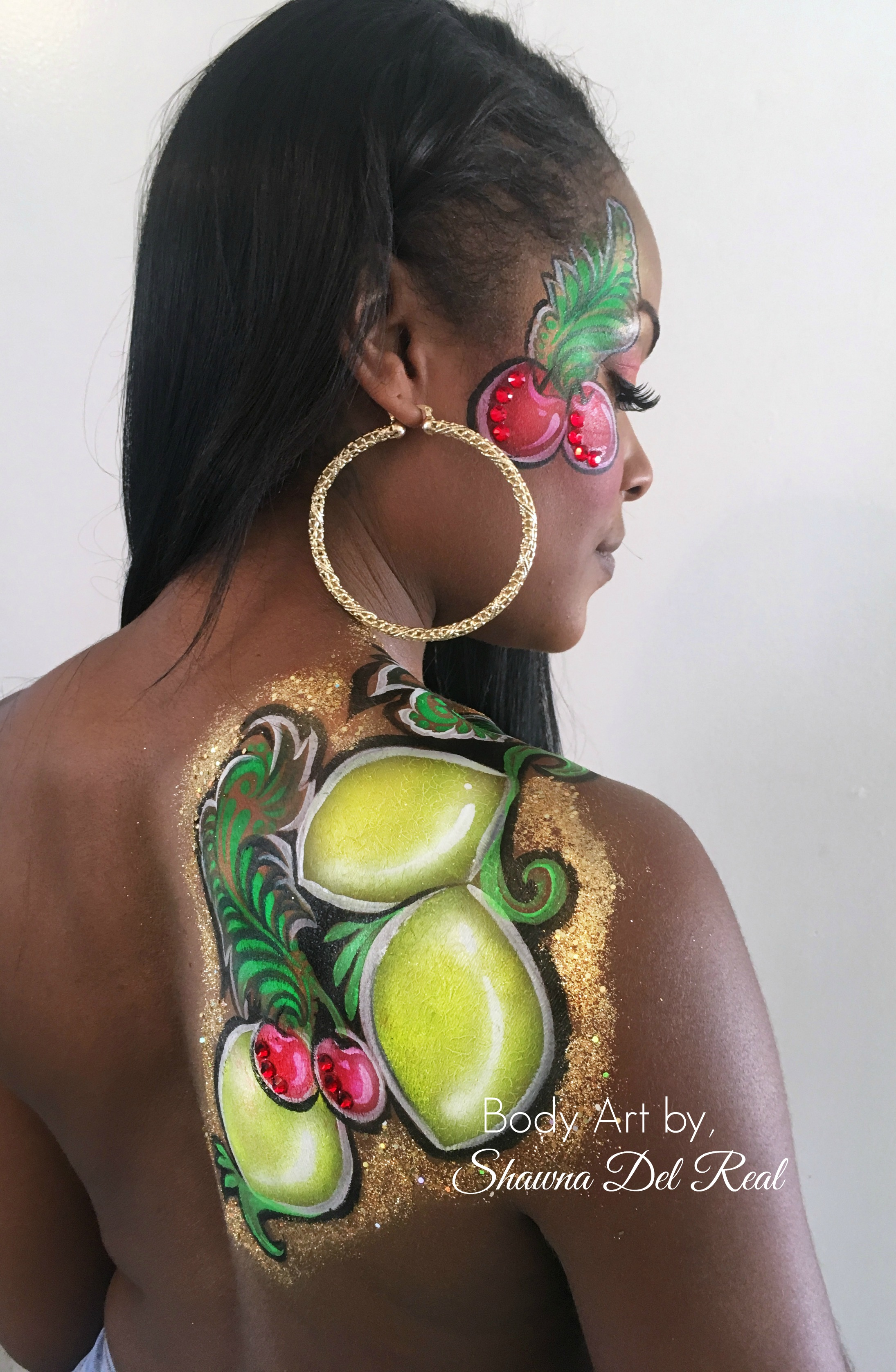 Lemon body painting los angeles