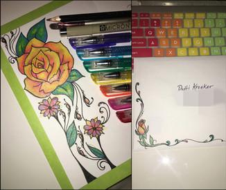 Greating Card Art- Gel Pens, Microns