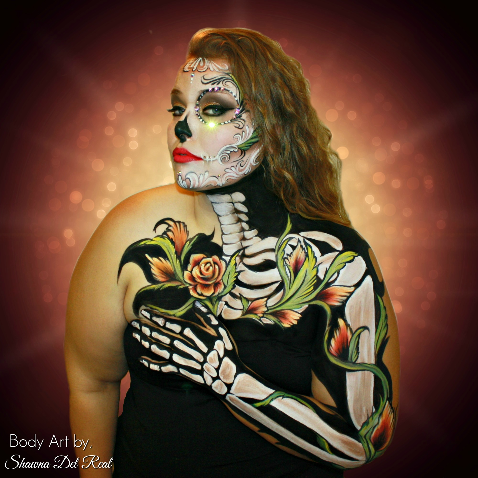 be still my heart body painting sugar sk