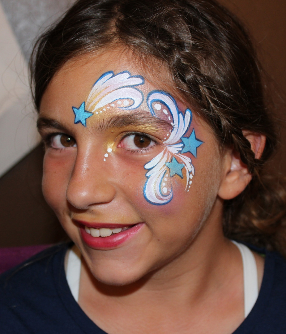shooting stars festival face painting