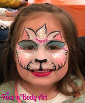 bitty kitty face painting by shawna del