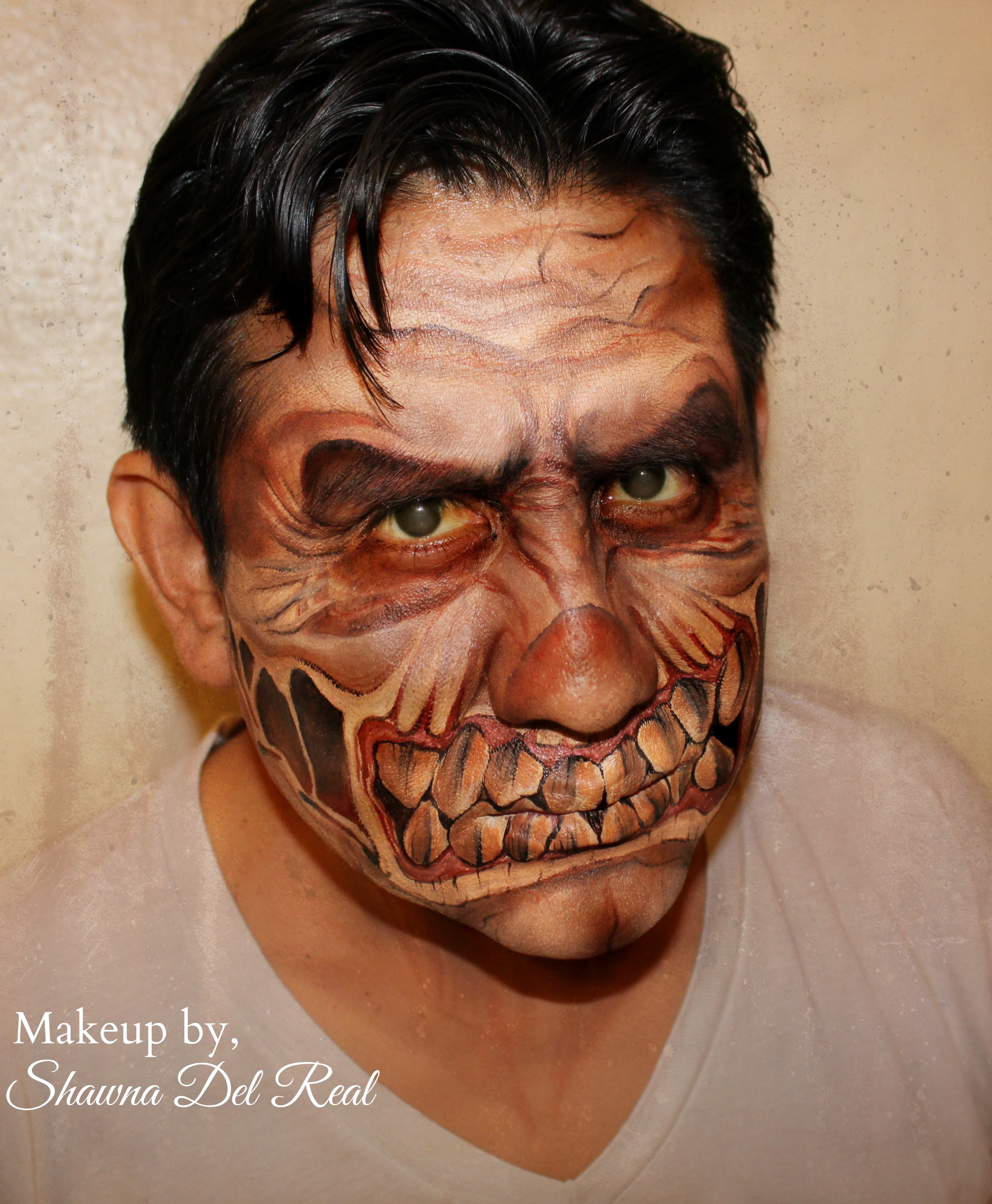 monster halloween face paint