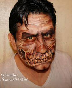 monster halloween face paint