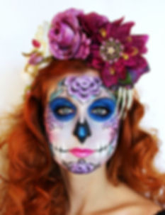 magenta day of the dead flower crown_edi