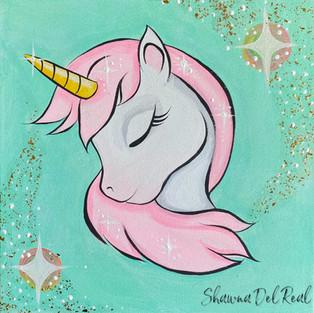 unicorn canvas painting