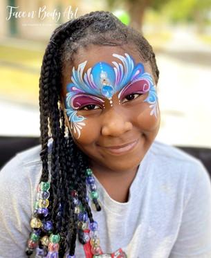 elsa princess mask face painting long be