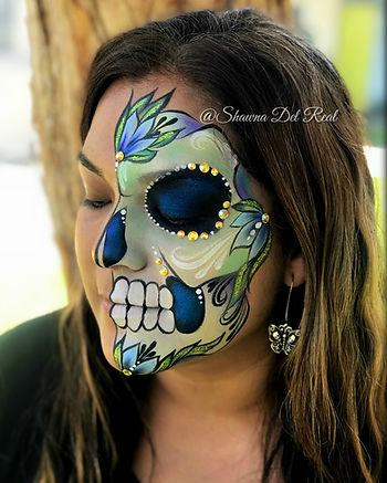 class blue flower sugar skull.jpg