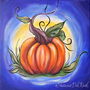 Fall pumpkin paint n sip