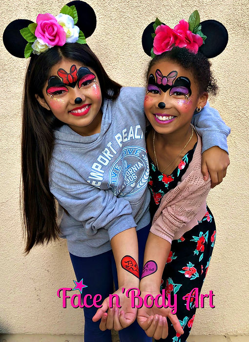 minnie mouse face painting by shawna del