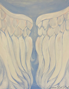 angel wings on canvas