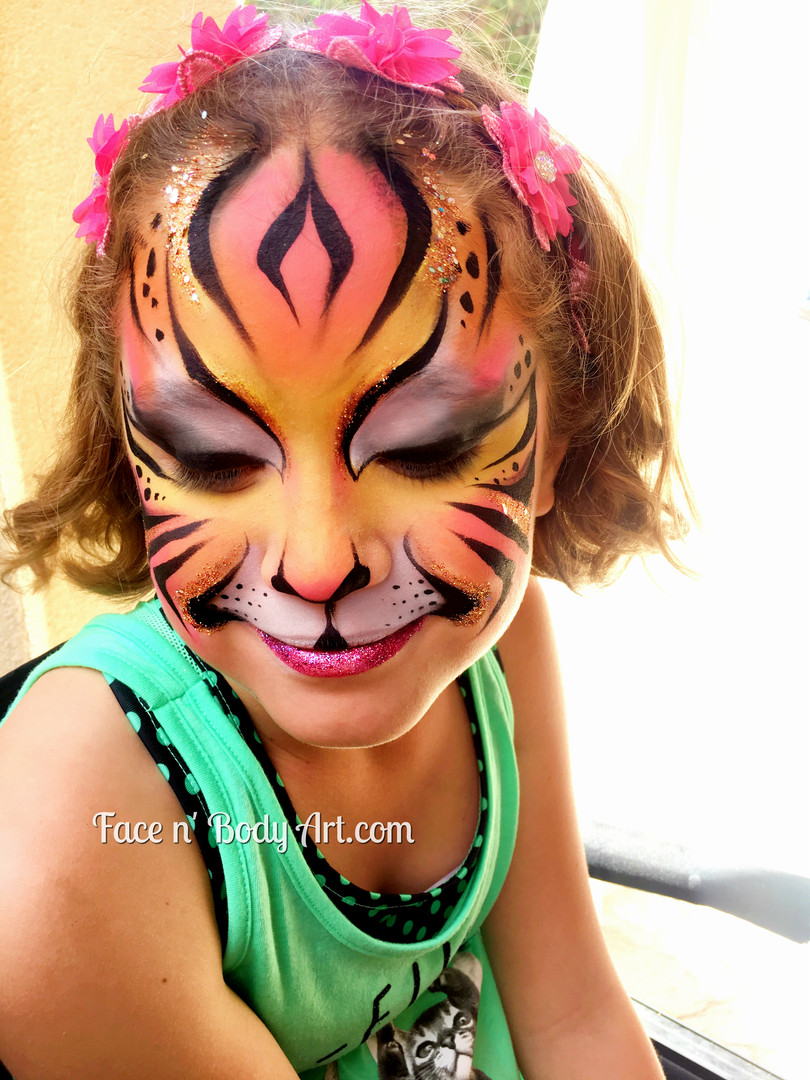 Tiger girl face paint los angeles