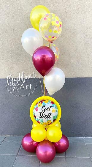 Get well helium balloon bouquet LA.jpg