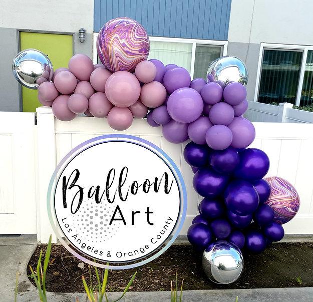 purple balloon garland long beach