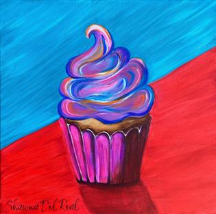 pop art cupcake painting paint nite