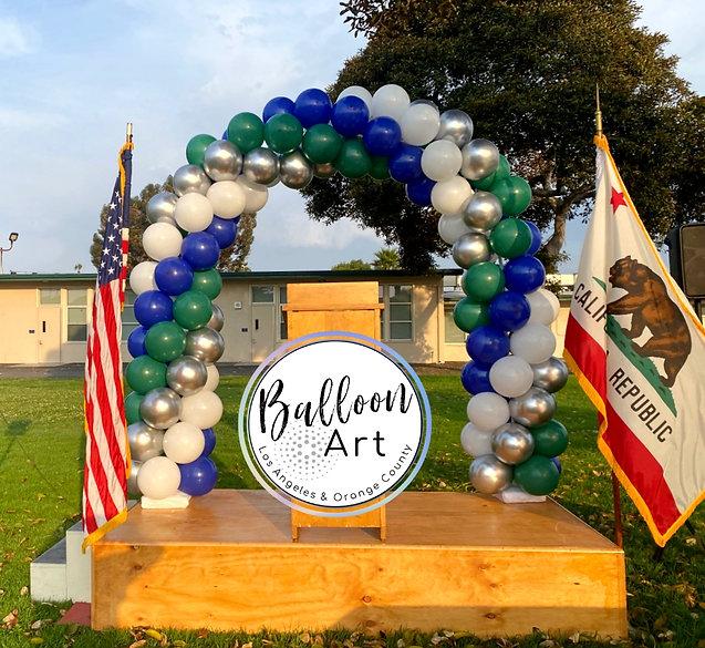 balloon arch bixby school long beach